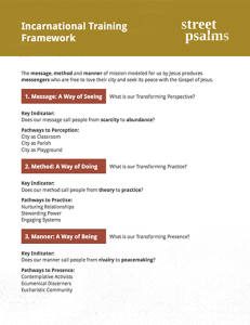 Incarnational Training Framework