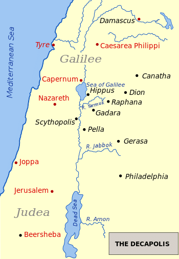 Caesarea Philippi map