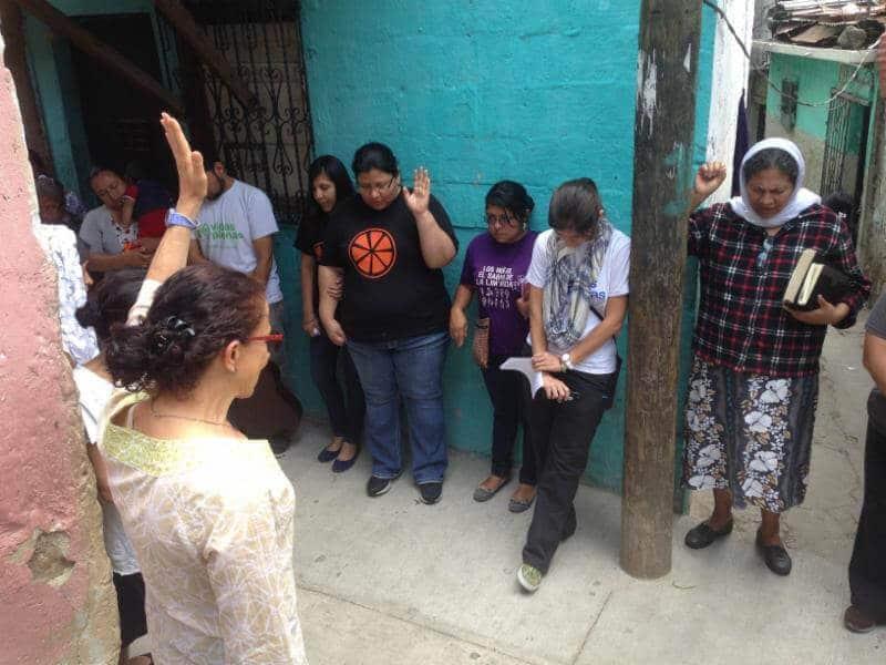 Tita felt led to lead weekly prayer walks