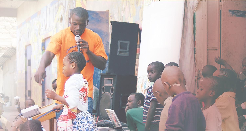 Parish leader working with community